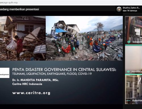Online Class Urban Issues: Penta Disaster Governance in Central Sulawesi: Tsunami, Likuefaksi, Gempa Bumi, Banjir, Covid-19